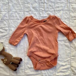 GAP Shirts & Tops - Peachy GAP onesie size:0-3mos.